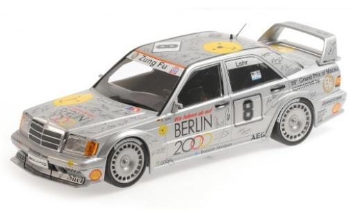Mercedes 190 1/18 Minichamps E 2.5-16 EVO 2 No.8 Zung Fu Berlin 2000 Macau Guia Race 1992 E.Lohr modellino in miniatura