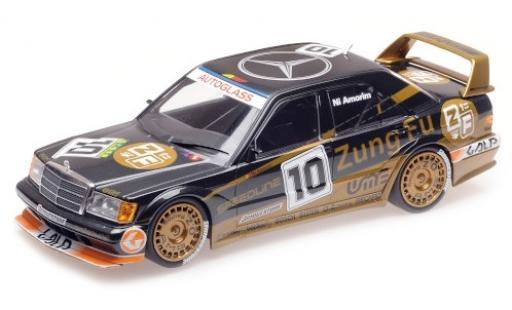 Mercedes 190 1/18 Minichamps E 2.5-16 EVO 2 (W200) No.10 Zung Fu Macau Guia Race 1991 N.Amorim modellino in miniatura