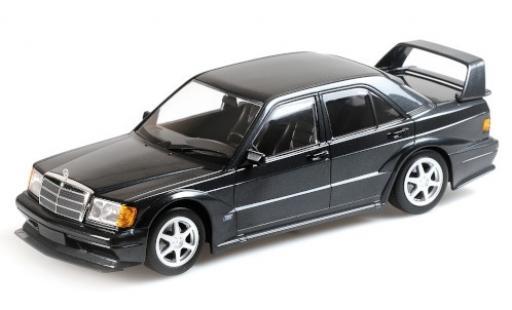 Mercedes 190 1/18 Minichamps E 2.5-16 Evo2 metallise black 1990 diecast model cars