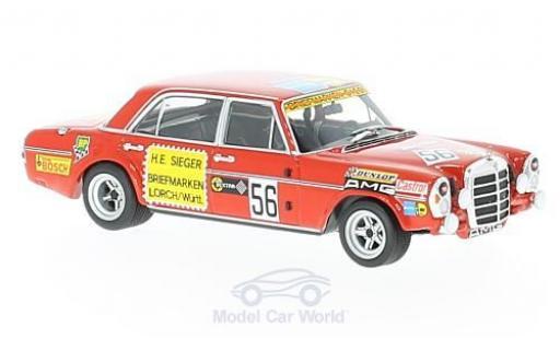 Mercedes 300 SEL 1/43 Minichamps 6.8 AMG No.56 Briefmarken Sieger 200 Meilen von Nürnberg 1972 H.Heyer miniature