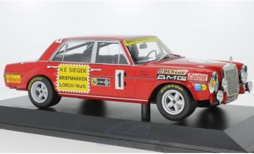 Mercedes 300 1/18 Minichamps SEL 6.8 No.1 Briefmarken Sieger 24h Nürburgring 1972 H.Heyer/T.Betzler miniature