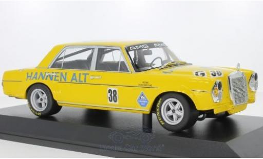 Mercedes 300 1/18 Minichamps SEL 6.8 No.38 Hannen Alt Hockenheim 1971 H.Heyer miniature