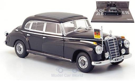 Mercedes 300 1/43 Minichamps b (W186III) noire 1955 Konrad Adenauer miniature