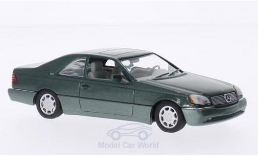 Mercedes 600 1/43 Minichamps SEC Coupe (C140) metallise verte 1992 miniature