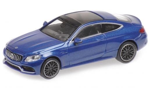 Mercedes Classe C 1/87 Minichamps AMG C 63 Coupe metallise bleue 2019 miniature