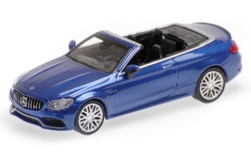 Mercedes Classe C 1/87 Minichamps AMG C63 Cabriolet (A205) metallise blue 2019 diecast model cars