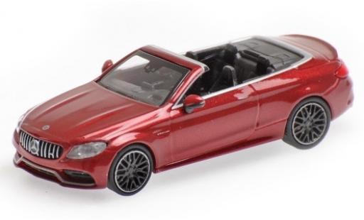 Mercedes Classe C 1/87 Minichamps AMG C63 Cabriolet (A205) metallise red 2019 diecast model cars