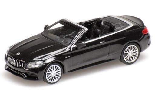 Mercedes Classe C 1/87 Minichamps AMG C63 Cabriolet (A205) metallise black 2019 diecast model cars