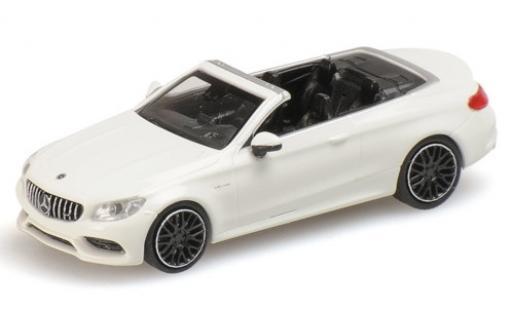 Mercedes Classe C 1/87 Minichamps AMG C63 Cabriolet (A205) white 2019 diecast model cars