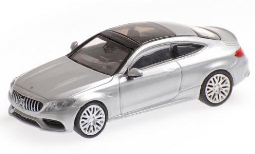 Mercedes Classe C 1/87 Minichamps AMG C63 Coupe (C205) grey 2015 diecast model cars