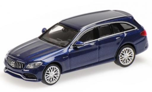 Mercedes Classe C 1/87 Minichamps AMG C63 T-Modell (S205) metallise bleue 2019 miniature