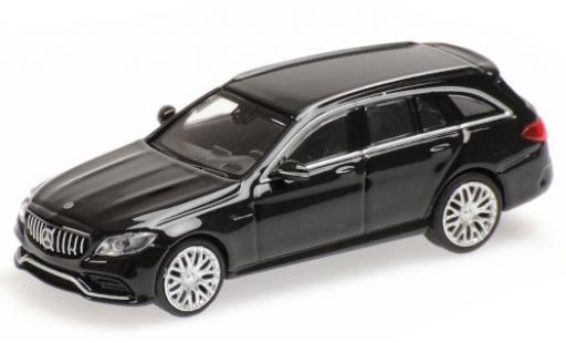 Mercedes Classe C 1/87 Minichamps AMG C63 T-Modell (S205) metallise noire 2019 miniature