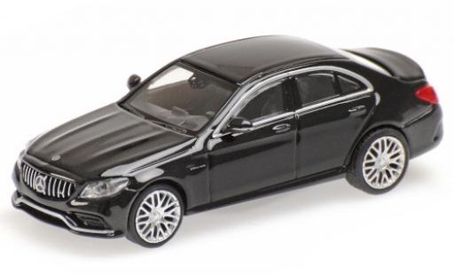 Mercedes Classe C 1/87 Minichamps AMG C63 (W205) metallise black 2019 diecast model cars