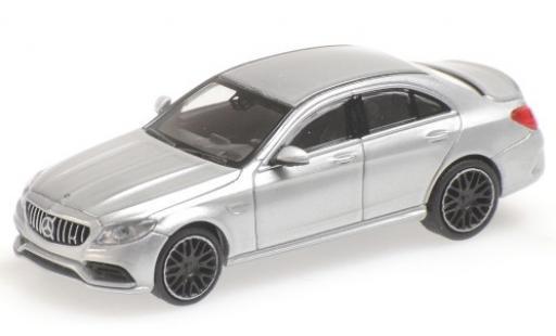 Mercedes Classe C 1/87 Minichamps AMG C63 (W205) grey 2019 diecast model cars