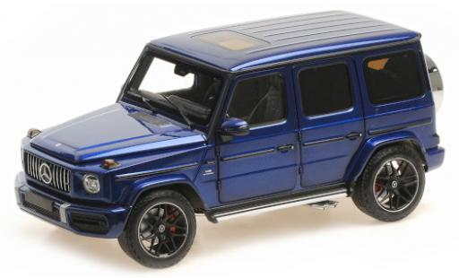 Mercedes Classe G 1/18 Minichamps AMG G63 metallise blue 2018 diecast model cars