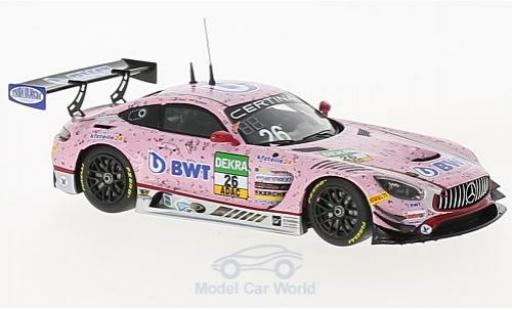 Mercedes AMG GT 1/43 Minichamps 3 No.26 BWT Mücke Motorsport BWT ADAC GT Masters 2017 S.Asch/L.Auer/S.Mücke miniature