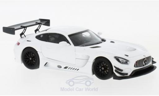 Mercedes AMG GT 1/43 Minichamps 3 blanche 2017 Plain Body Version miniature
