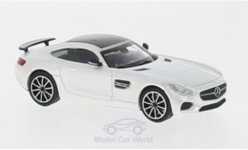 Mercedes AMG GT 1/87 Minichamps S métallisé blanche 2015 miniature