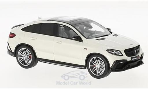 Mercedes Classe E 1/43 Minichamps Brabus 850 4x4 Coupe white 2016 Basis GLE 63 S diecast model cars