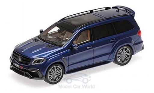 Mercedes Classe S 1/43 Minichamps Brabus 850 Widestar XL métallisé bleue 2017 Basis AMG GLS 63 miniature