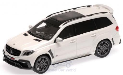 Mercedes Classe S 1/43 Minichamps Brabus 850 Widestar XL métallisé blanche 2017 Basis AMG GLS 63 miniature