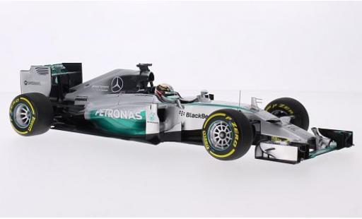Mercedes F1 1/18 Minichamps W05 Hybrid No.44 AMG Petronas Team Petronas Formel 1 GP Abu Dhabi 2014 avec figurine de conducteur L.Hamilton miniature
