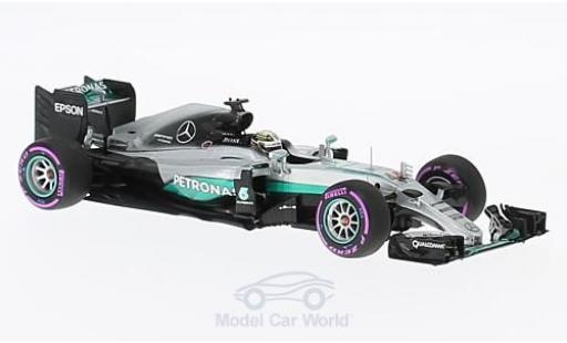 Mercedes F1 1/43 Minichamps W07 Hybrid No.44 AMG Petronas Team Formel 1 GP Abu Dhabi 2016 L.Hamilton miniature