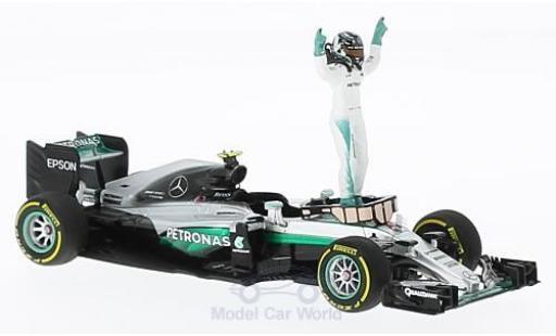 Mercedes F1 1/43 Minichamps W07 Hybrid No.6 AMG Petronas Team Formel 1 GP Abu Dhabi 2016 mit Figur N.Rosberg miniature