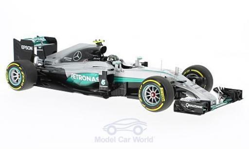 Mercedes F1 1/18 Minichamps W07 Hybrid No.6 AMG Petronas Team Formel 1 GP Abu Dhabi 2016 N.Rosberg miniature