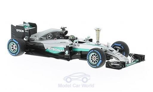 Mercedes F1 1/43 Minichamps W07 Hybrid No.6 AMG Petronas Team Petronas Formel 1 2016 mit Pokal N.Rosberg diecast model cars