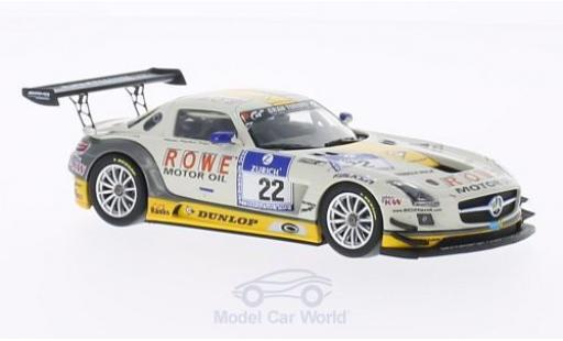 Mercedes SLS 1/43 Minichamps AMG GT3 No.22 ROWE Racing 24h Nürburgring 2013 miniature