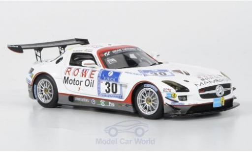 Mercedes SLS 1/43 Minichamps AMG GT3 No.30 Mamerow/Rowe Racing 2011 C.Mamerow/A.Hahne/P.Kaffer miniature
