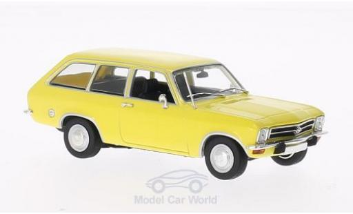 Opel Ascona 1/43 Minichamps A Voyage yellow 1970 diecast model cars