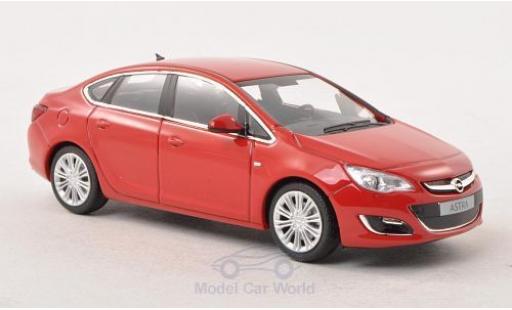 Opel Astra 1/43 Minichamps J Limousine rouge 2012 miniature