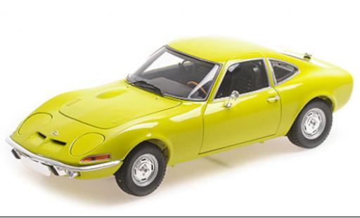 Opel GT 1/18 Minichamps amarillo 1970 coche miniatura