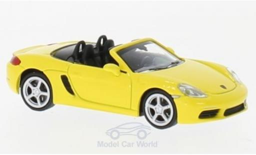 Porsche Boxster 1/87 Minichamps 718 yellow 2016 diecast model cars