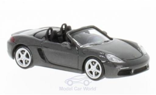 Porsche 718 1/87 Minichamps Boxster metallic-grise 2016 miniature