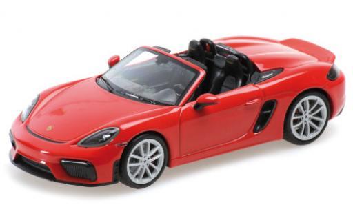 Porsche Boxster 1/43 Minichamps 718 Spyder (982) red 2020 Softtop couché avec diecast model cars
