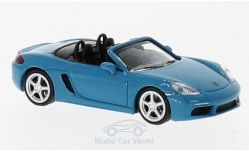 Porsche 718 1/87 Minichamps Boxster türkis/bleue 2016 miniature
