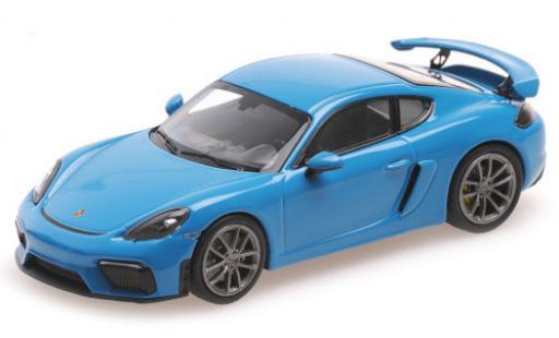 Porsche Cayman GT4 1/43 Minichamps 718 (982) blue 2020 diecast model cars