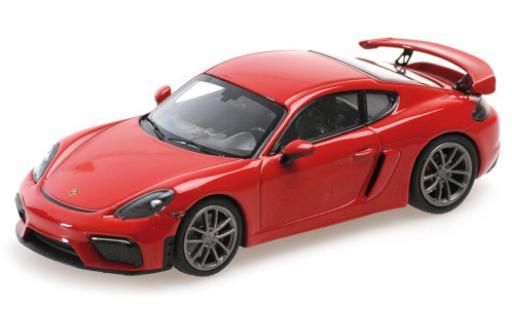 Porsche Cayman GT4 1/43 Minichamps 718 (982) red 2020 diecast model cars