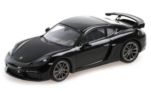 Porsche Cayman GT4 1/43 Minichamps 718 (982) black 2020 diecast model cars