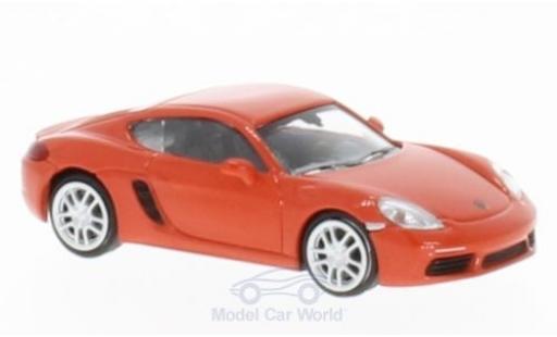 Porsche 718 1/87 Minichamps Cayman orange 2016 miniature