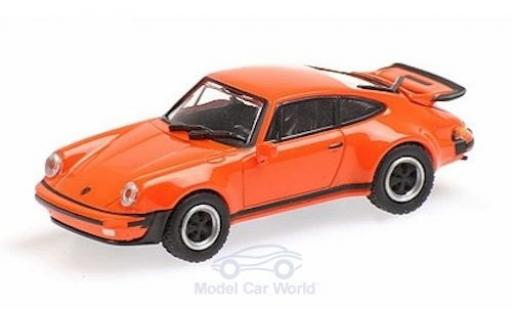 Porsche 930 Turbo 1/87 Minichamps 911  orange 1977 diecast model cars