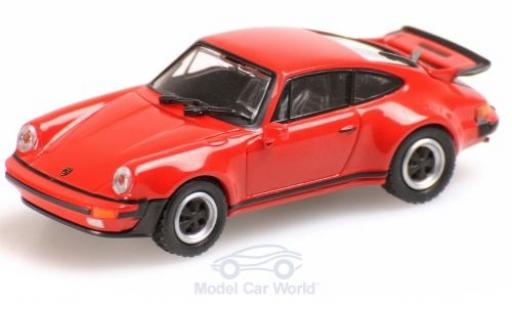 Porsche 911 1/87 Minichamps (930) Turbo rouge 1977 miniature