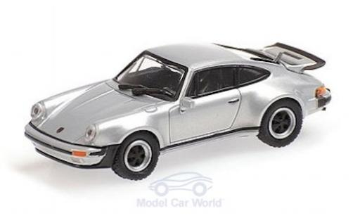 Porsche 930 Turbo 1/87 Minichamps 911  grey 1977 diecast model cars