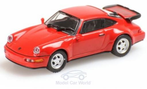Porsche 911 1/87 Minichamps (964) Turbo rouge 1990 miniature