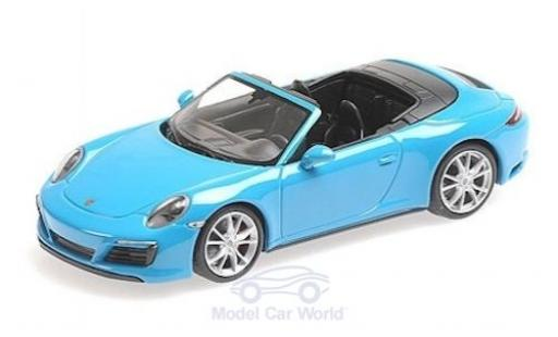 Porsche 991 1/43 Minichamps 911 (.2) Carrera 4 Cabriolet blue 2016 diecast model cars
