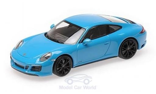 Porsche 911 1/43 Minichamps (991.2) Carrera 4 GTS bleue 2017 miniature