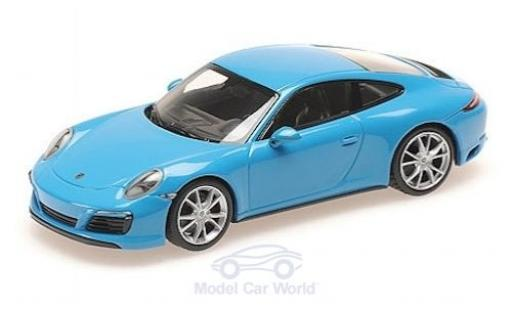 Porsche 911 1/43 Minichamps (991.2) Carrera 4S bleue 2016 miniature